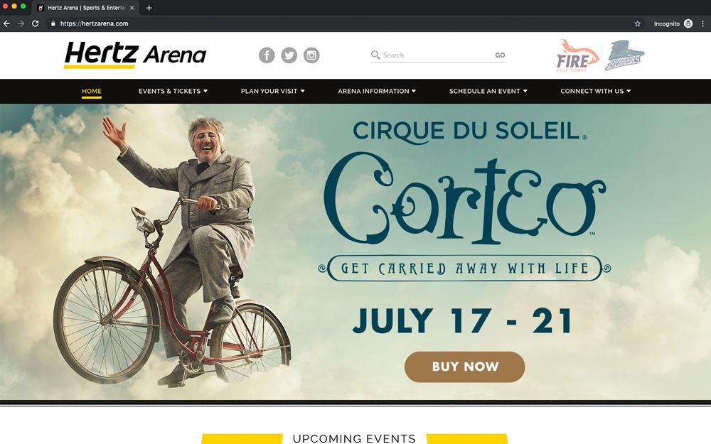 Hertz Arena desktop