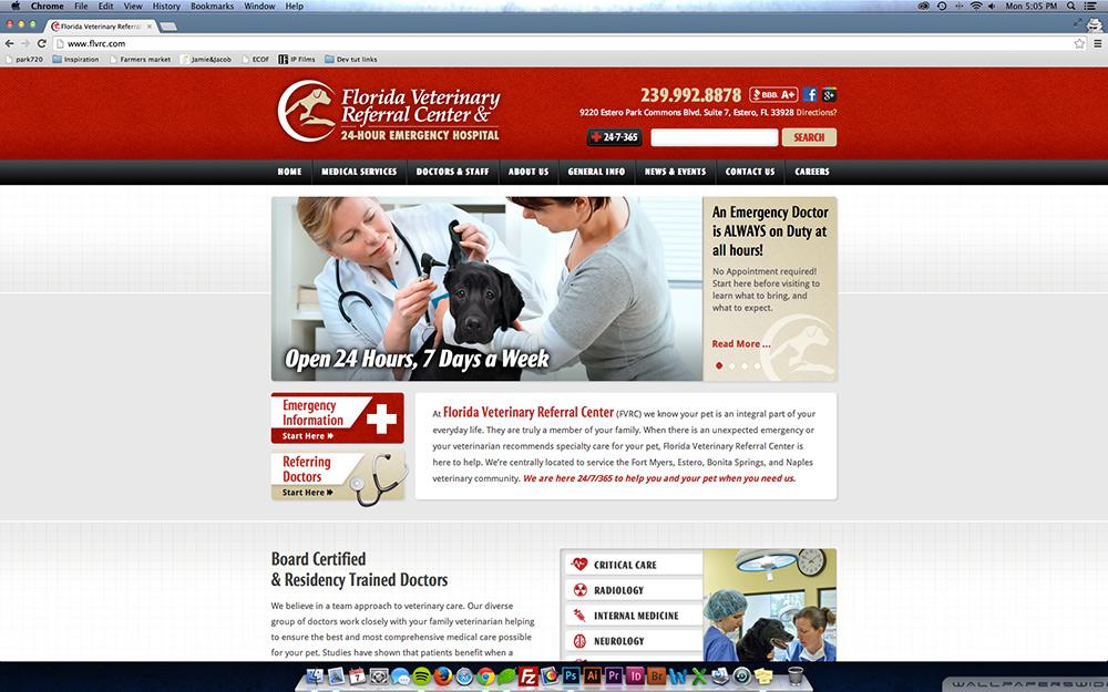 Florida Veterinary Referral Center desktop
