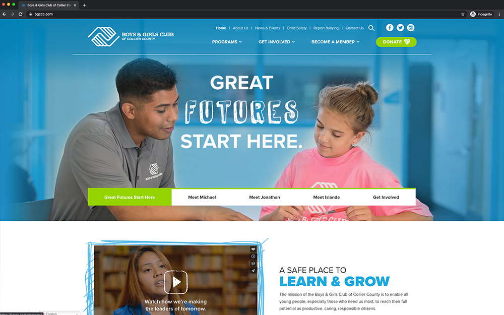Boys & Girls Club of Collier County desktop
